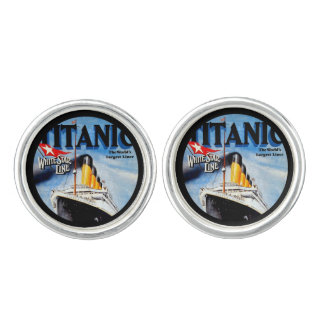 RMS Titanic Travel Ad Cufflinks