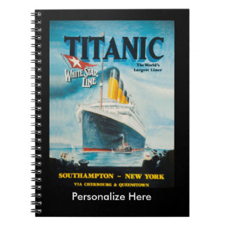 RMS Titanic Travel Ad Notebook