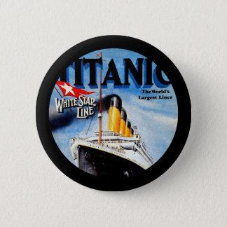 RMS Titanic Travel Ad Pinback Button