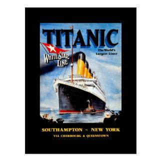 RMS Titanic Travel Ad Postcard