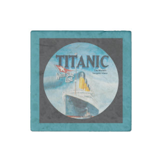 RMS Titanic Travel Ad Stone Magnet