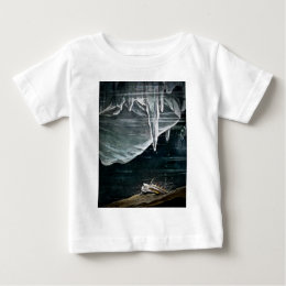 RMS Titanic Under the Sea and Icebergs Vintage Baby T-Shirt