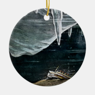 RMS Titanic Under the Sea and Icebergs Vintage Ceramic Ornament