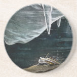RMS Titanic Under the Sea and Icebergs Vintage Beverage Coaster