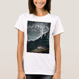 RMS Titanic Under the Sea and Icebergs Vintage T-Shirt