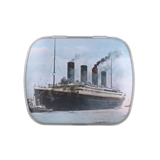 RMS Titanic Vintage Hand Tinted Magic Lantern Jelly Belly Tin