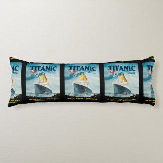 RMS Titanic Vintage Poster Art Body Pillow