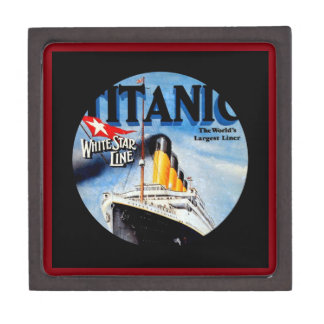 RMS Titanic Vintage Poster Art Jewelry Box