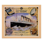 RMS Titanic Vintage Soap Ad (w/border) Print