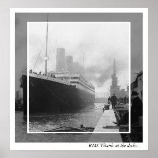 RMS titánico antes de salida Poster