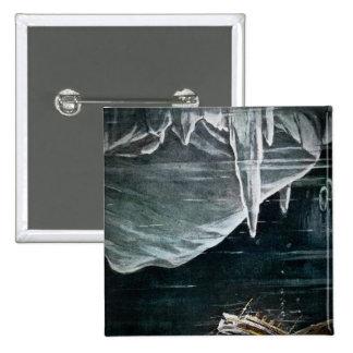 RMS titánico bajo el mar y vintage de los icebergs Pins