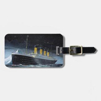 RMS titánico Etiqueta De Maleta