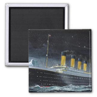 RMS titánico Imán Cuadrado