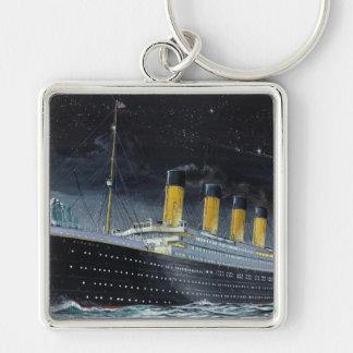 RMS titánico Llavero Cuadrado Plateado