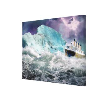 RMS titánico y lona envuelta pintura del iceberg Impresiones En Lona Estiradas
