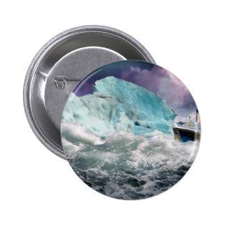 RMS titánico y pintura del iceberg Pin Redondo 5 Cm