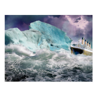 RMS titánico y pintura del iceberg