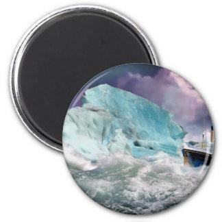 RMS titánico y pintura del iceberg Imán Redondo 5 Cm