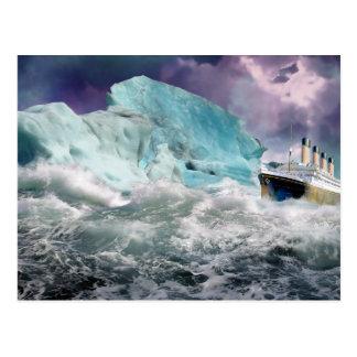 RMS titánico y pintura del iceberg Postales