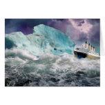RMS titánico y pintura del iceberg Tarjetón