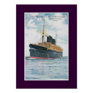 RMS Viceroy of India Poster