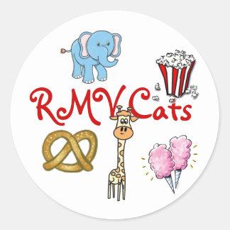 rmv circus classic round sticker