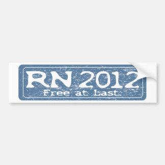 RN 2011 - Free at Last Bumper Sticker