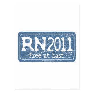 RN 2011 - Free at Last Postcard