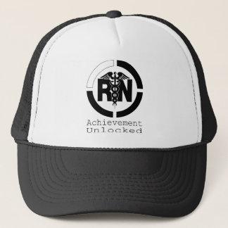 RN Achievement Unlocked Nursing Trucker Hat