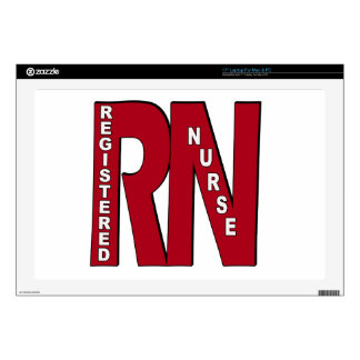 "RN BIG RED DECALS FOR 17"" LAPTOPS"