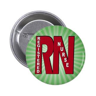 RN BIG RED REGISTERED NURSE BUTTON