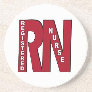 RN BIG RED REGISTERED NURSE COASTER