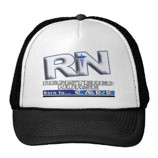 RN - BORN TO CARE - REGISTERED NURSE - MOTTO TRUCKER HAT