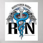 RN Caduceus Blue Poster