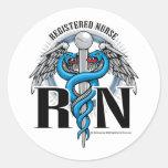 RN Caduceus Blue Stickers