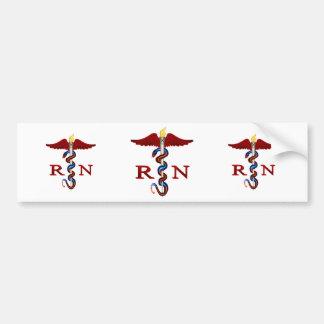 RN Caduceus Bumper Sticker