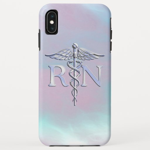 RN Caduceus Medical Mother Pearl Decor iPhone XS Max Case