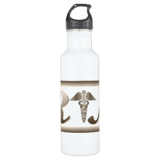 RN Caduceus Stainless Steel Water Bottle