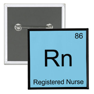Rn - Camiseta del símbolo del elemento de la Pin Cuadrado