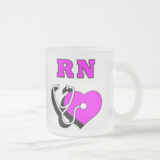 RN Care 10 Oz Frosted Glass Coffee Mug