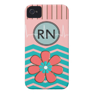 RN Chevron Pattern Pink and Blue iPhone 4 Case-Mate Case