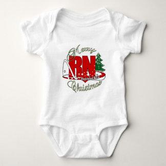 RN CHRISTMAS Registered Nurse Baby Bodysuit