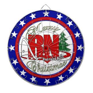 RN CHRISTMAS Registered Nurse Dartboards