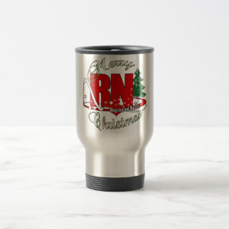 RN CHRISTMAS Registered Nurse Travel Mug