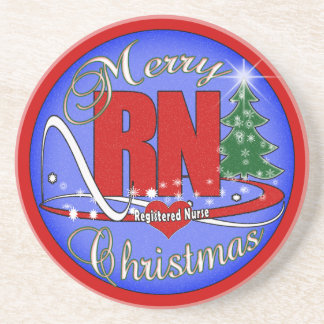 RN COASTERS MERRY CHRISTMAS - REGISTERED NURSE
