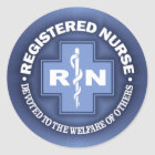 RN -Dedicated To Others Classic Round Sticker