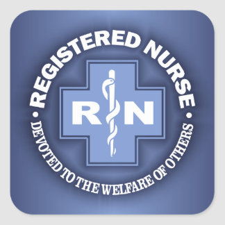 RN -Dedicated To Others Square Sticker