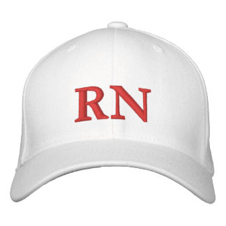 RN EMBROIDERED BASEBALL HAT