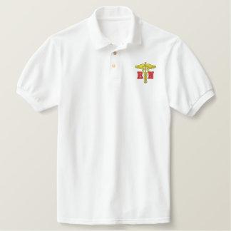 Rn Embroidered Polo Shirt