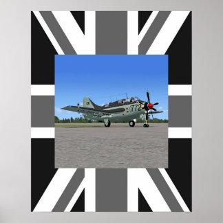 RN Fairey Gannet Recon Plane Poster Print